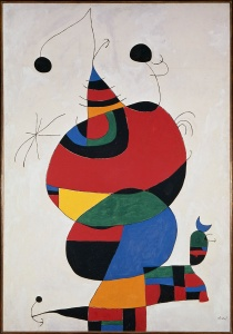 Joan Miró, Woman, Bird and Star (Homage to Picasso), 1966/1973. Oil on canvas. Museo Nacional Centro de Arte Reina Sofía. © Sucessió Miró / Artists Rights Society (ARS), New York / ADAGP, Paris 2015.